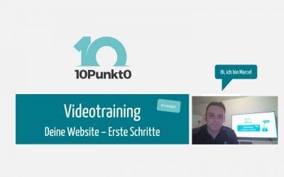 Videotraining   Deine neue Website – Erste Schritte